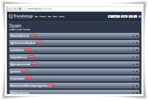 Trending Topic España - Jornada TMT Valencia 15 noviembre 2013