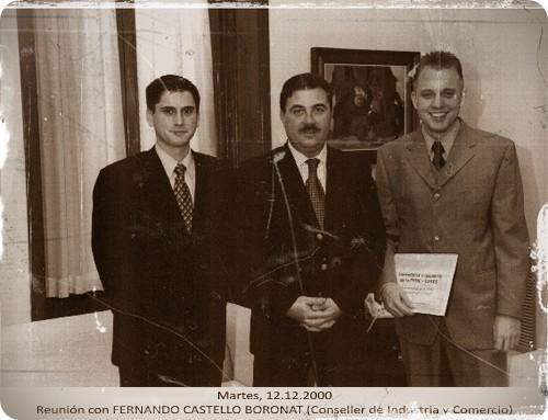 Reunión con Fernando Castelló Boronat (Conseller de Industria y Comercio) - Martes 12/12/2000