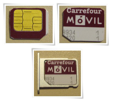 Conversión tarjeta carrefour móvil internet prepago en microsim para apple ipad