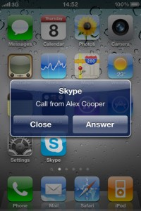 Skype multitarea para iPhone iOS 4.0
