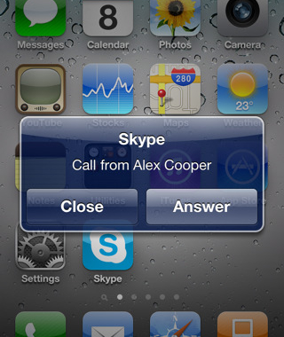 Skype multitarea para el iPhone