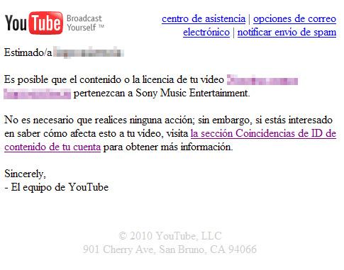 YouTube y los derechos de autor de canciones incluidas en vídeos