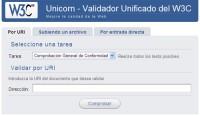 W3C Unicorn: Validador Unificado