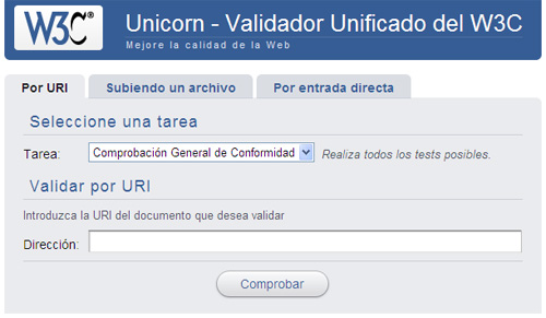 W3C Unicorn: Validador Unificado