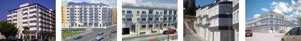 Edificios cuyos proyectos han realizado y ejecutado los socios de Arquinterval