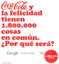Coca-Cola y la felicidad en Google