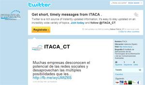 ITACA Centro Tecnológico estrena cuenta Twitter