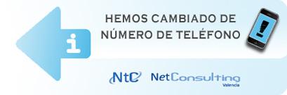 Cambio número de teléfono NetConsulting Valencia. Nuevo número: +34 669 921 382 (Movistar).