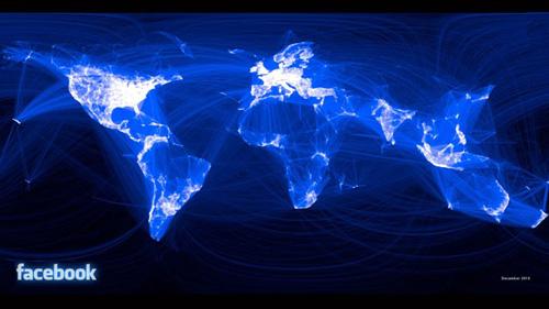 África tiene la menor parte de relaciones en Facebook y Estados Unidos la mayor (Paul Butler / Facebook).