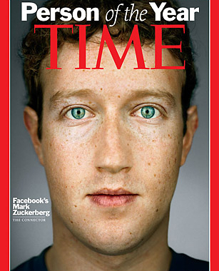 La revista TIME nombra a Mark Zuckerberg persona de año 2010