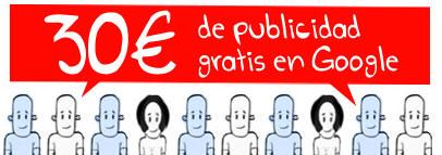 ¿Quieres 30 EUR de publicidad en Google Adwords?
