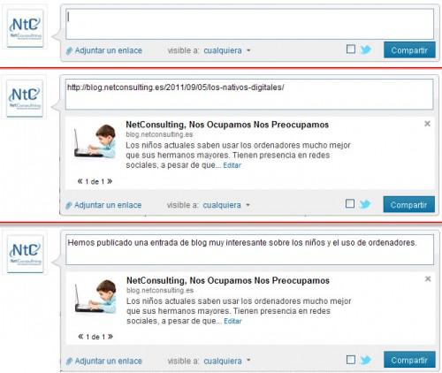 Compartir información de la empresa en LinkedIn