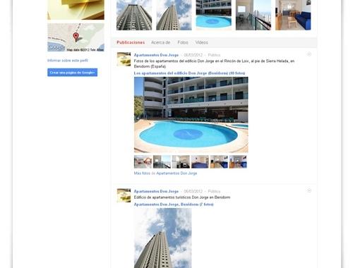 Los apartamentos turísticos Don Jorge apuestan por Google+