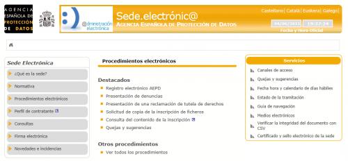 La Agencia Española Protección Datos tiene sede electrónica