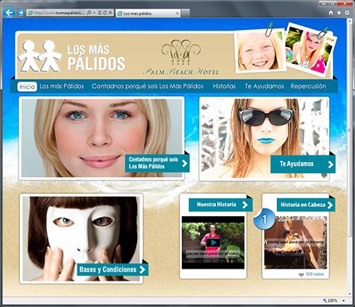Web de Los más Pálidos del Palm Beach Hotel