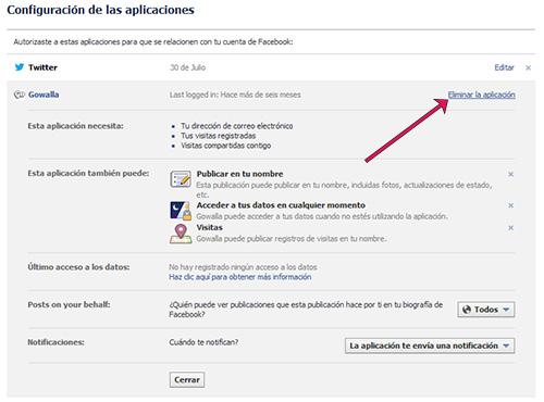 Cómo eliminar aplicaciones de Facebook