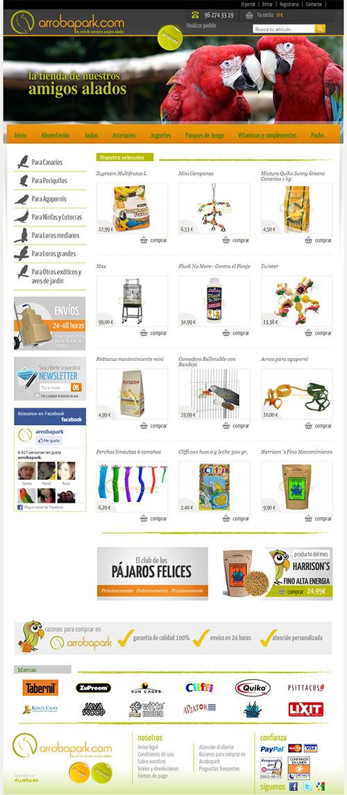 Tienda online para agapornis, ninfas y loros; desde La Eliana (Valencia)