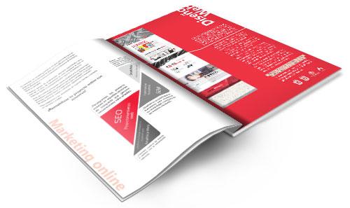 Folleto Servicios: Apasionados del Marketing: Marketing Online y Desarrollo Web desde Valencia y Alicante (España).