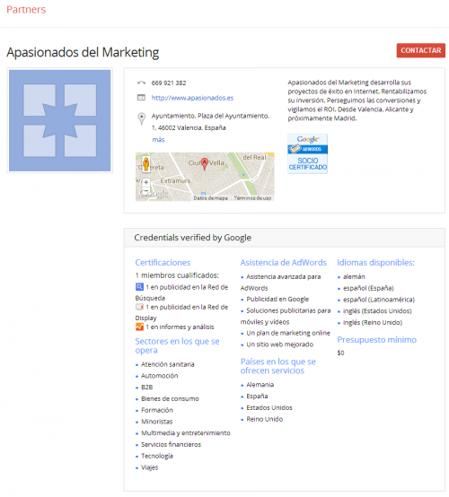 Apasionados del Marketing: Partner de Google AdWords