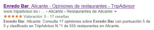 Enred Boar Alicante: Tripadvisor en Google