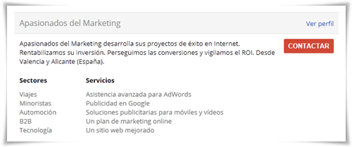 Apasionados del Marketing es Google Partner