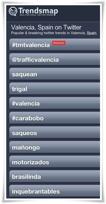 #TMTValencia fue trending topic el viernes 21 de marzo de 2014