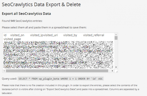 Seo Crawlytics Export Data