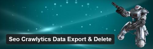 Seo Crawlytics Export & Delete