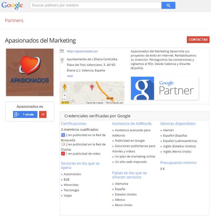 Apasionados es Google Partner