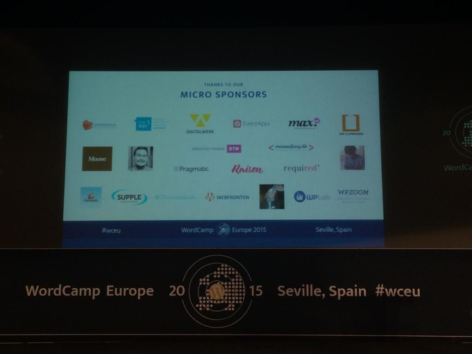 Apasionados: Sponsors del WordCamp Europe en Sevilla 2015