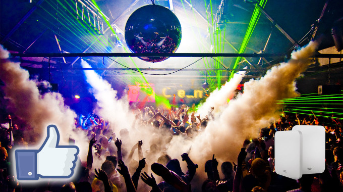 Facebook Wifi en Discotecas y Salas de fiesta
