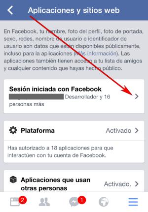 Facebook - Aplicación IOS - Aplicaciones y sitios