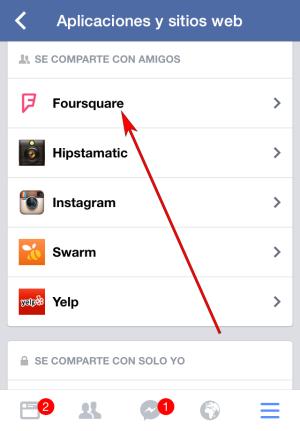 Facebook - Aplicación IOS - Ejemplo FourSquare 01