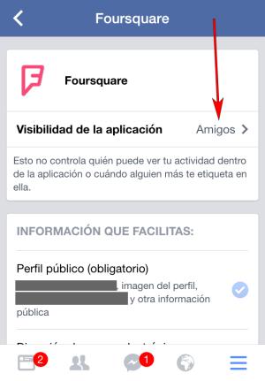 Facebook - Aplicación IOS - Ejemplo FourSquare 02