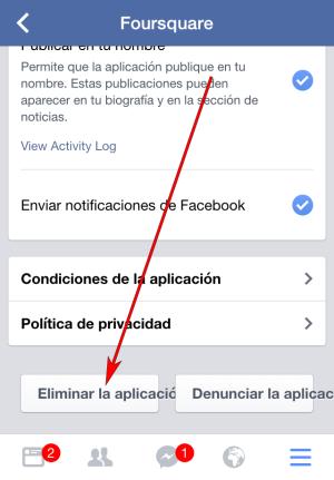 Facebook - Aplicación IOS - Ejemplo FourSquare 03