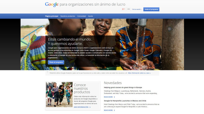Google for nonprofits - España