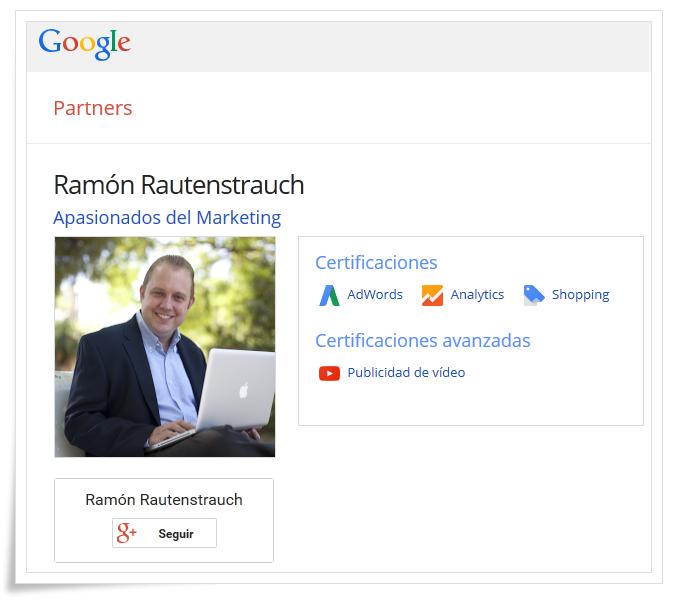 Certificación Google Shopping: Ramón