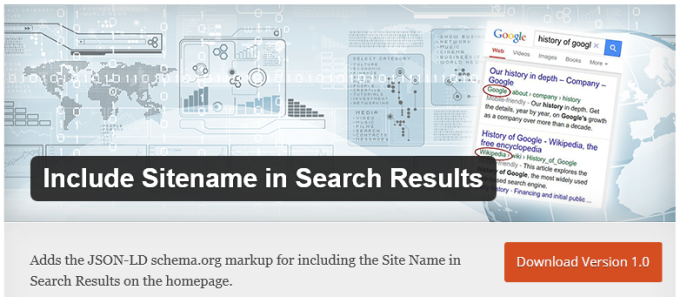 Include Sitename in Search Results