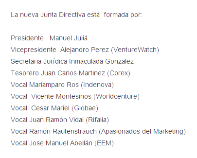 Junta directiva Avalnet electa en julio 2015