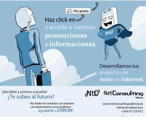 Imagen de la página en Facebook de NetConsulting Marketing para no fans