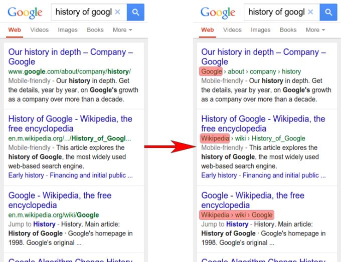 Resultados de búsqueda con nombre de la web en vez del nombre de dominio