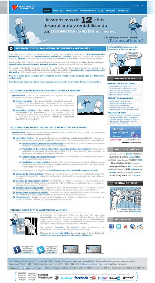 Web Apasionados año 2010